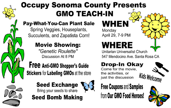 Occupy Sonoma County GMO Teach-in 4/29/13