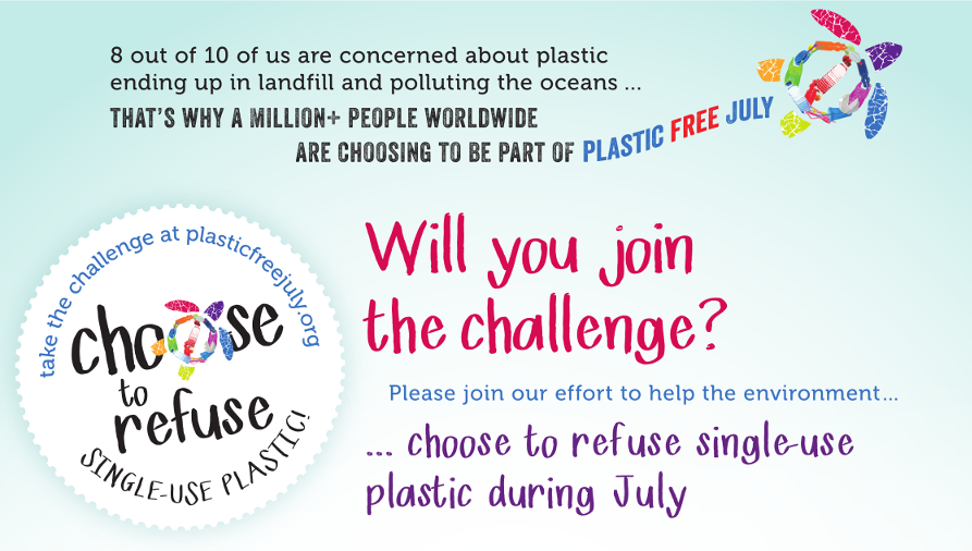 Plastic Free July Action Picker